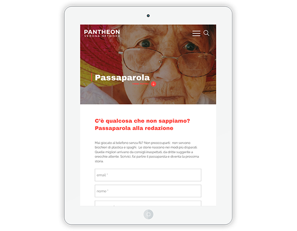 Kaleidoscope Digital Agency - Pantheon Verona - Passaparola
