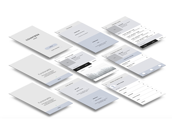 Kaleidoscope Digital Agency - Agsm Countbox App - App Wireframe