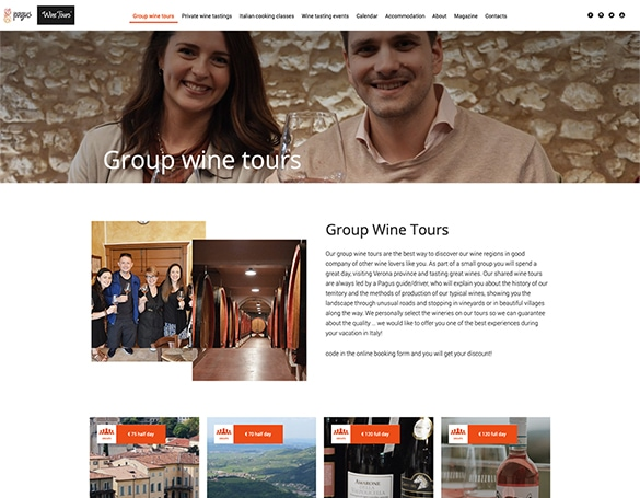 Kaleidoscope Digital Agency - Pagus Wine Tours - Group Tours